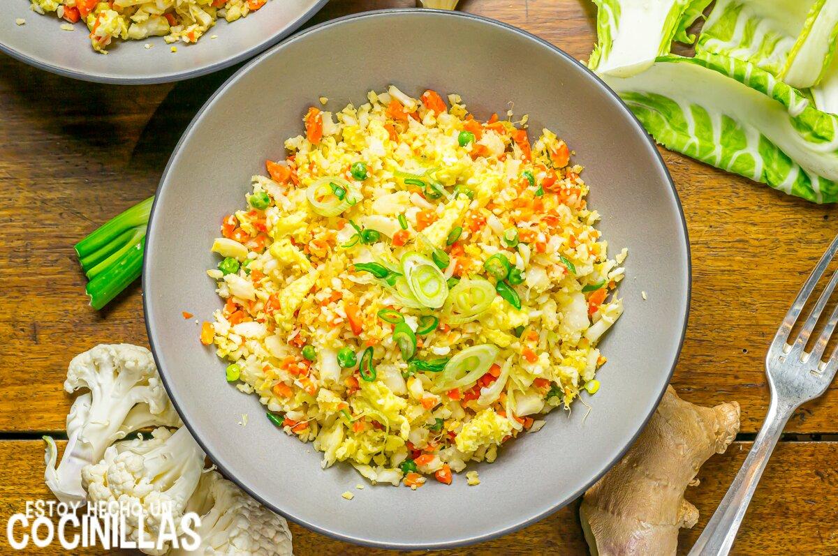 Recette de riz de chou-fleur cantonais
