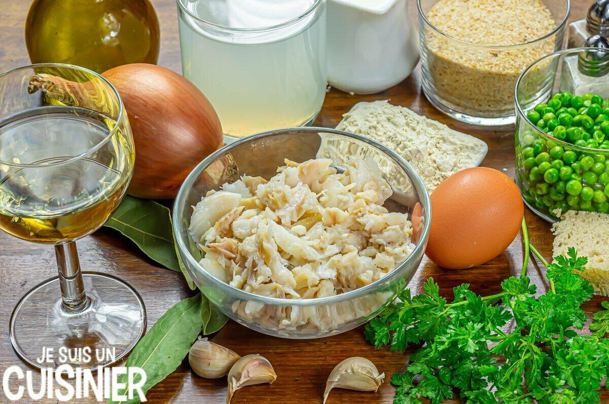 Boulettes de morue sauce verte (ingrédients)