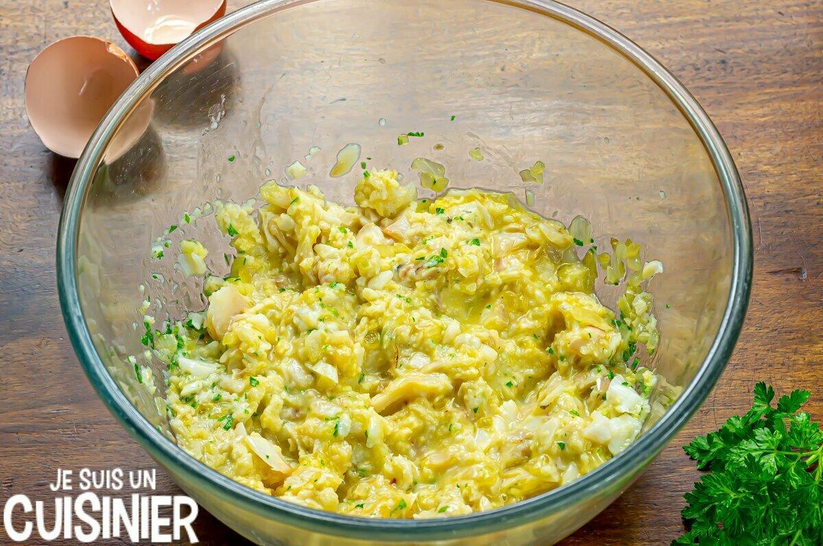 Boulettes de morue sauce verte (mélanger)