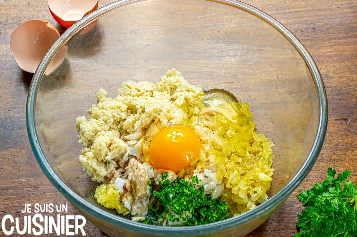 Boulettes de morue sauce verte (œuf)