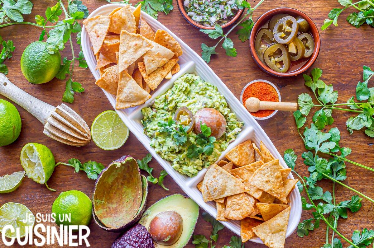 Nachos au guacamole