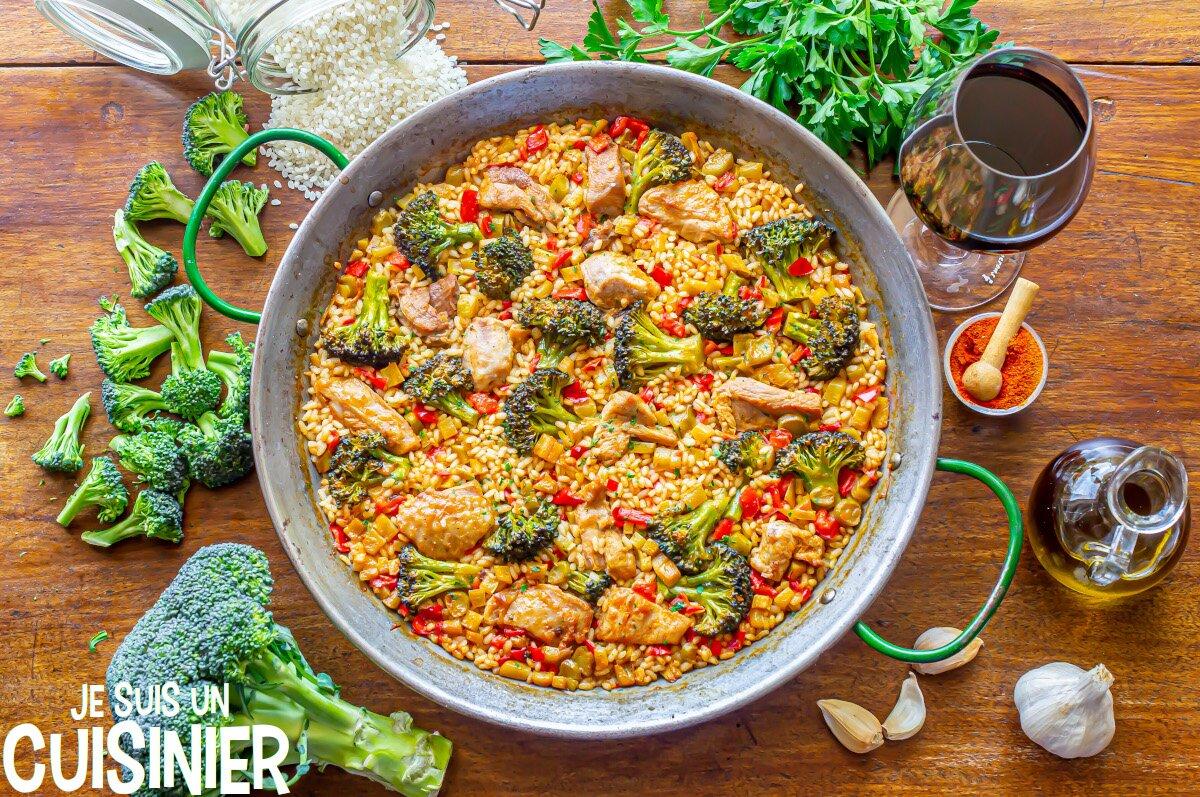 Paella à la dinde et aux légumes