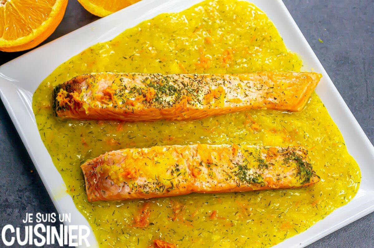 Recette de saumon à l'orange et à l'aneth