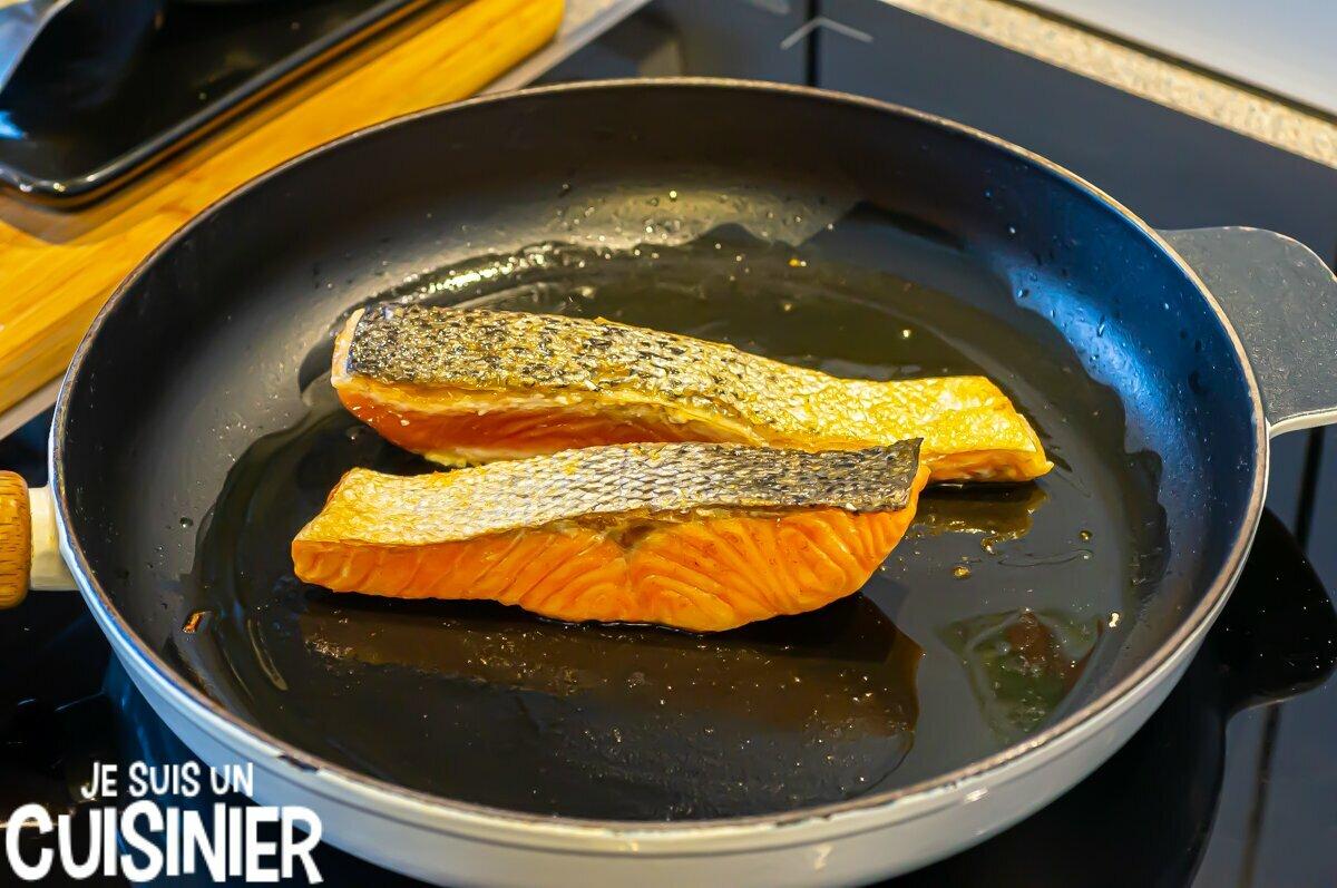 Saumon à l'orange et à l'aneth (cuisson)