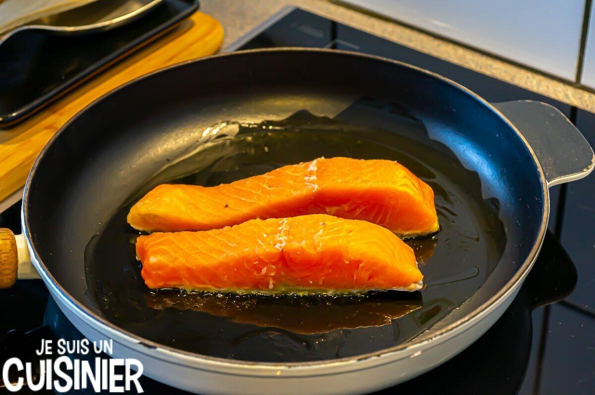 Saumon à l'orange et à l'aneth (poêle)