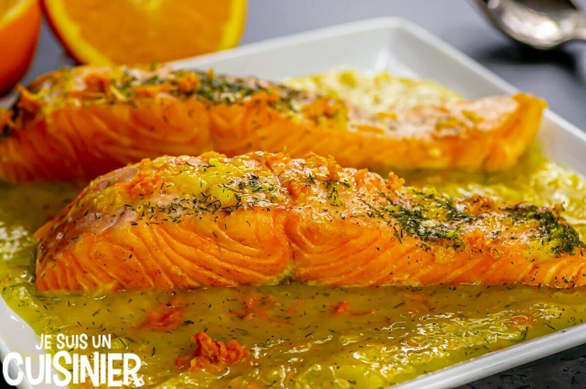 Saumon à l'orange et à l'aneth