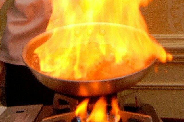 Calamars en sauce armoricaine (flamber)