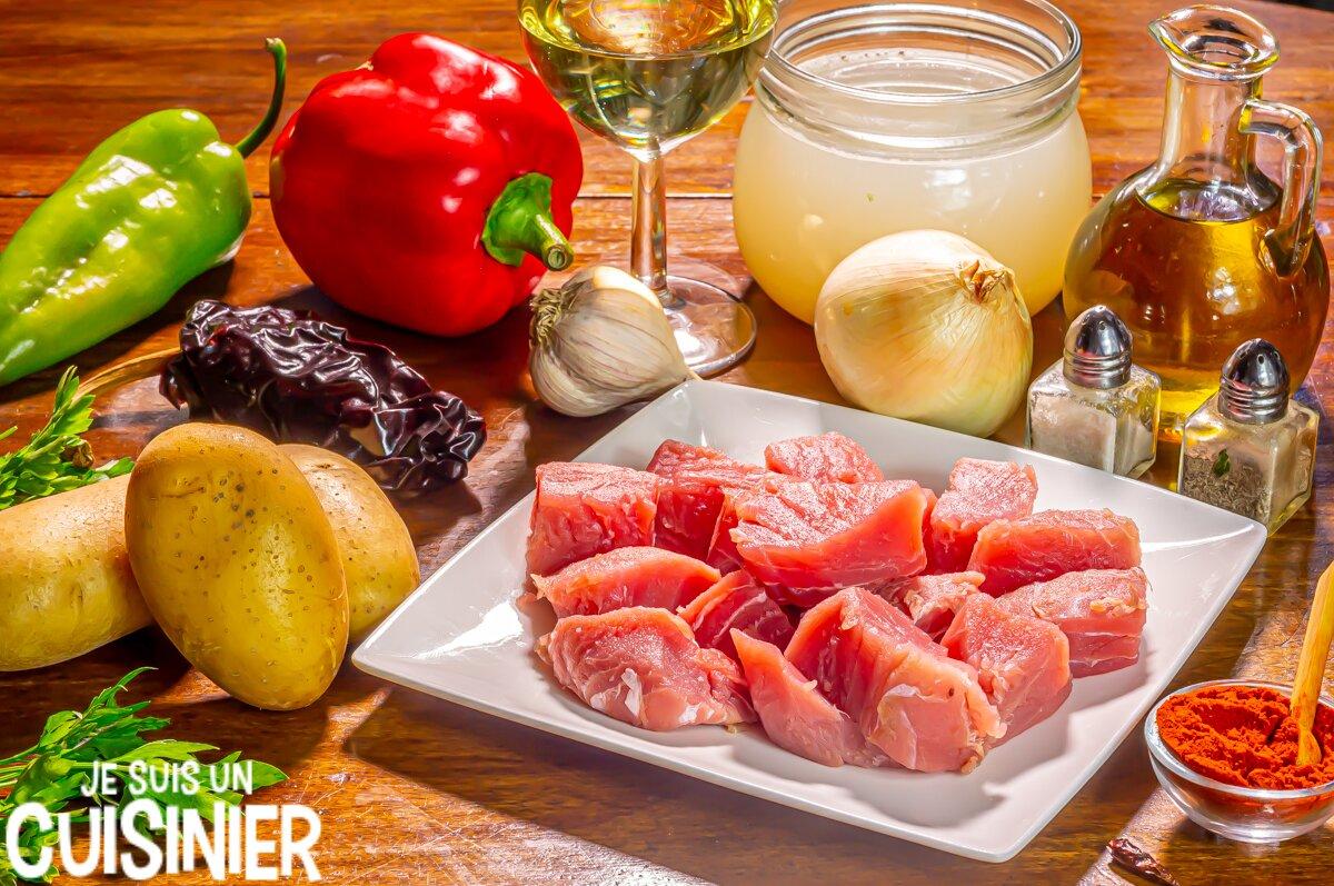 Ingrédients marmitako de thon