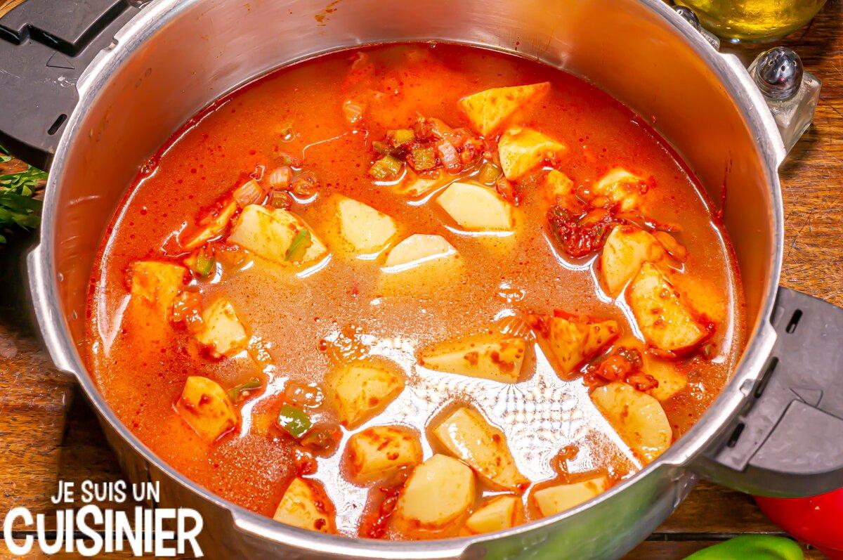 Marmitako de thon (cuisson)
