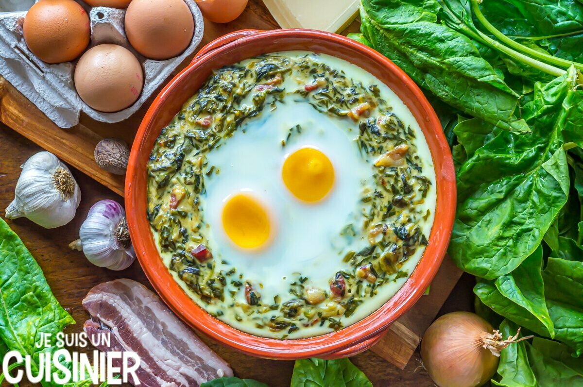 Recette œufs à la florentine avec des épinards