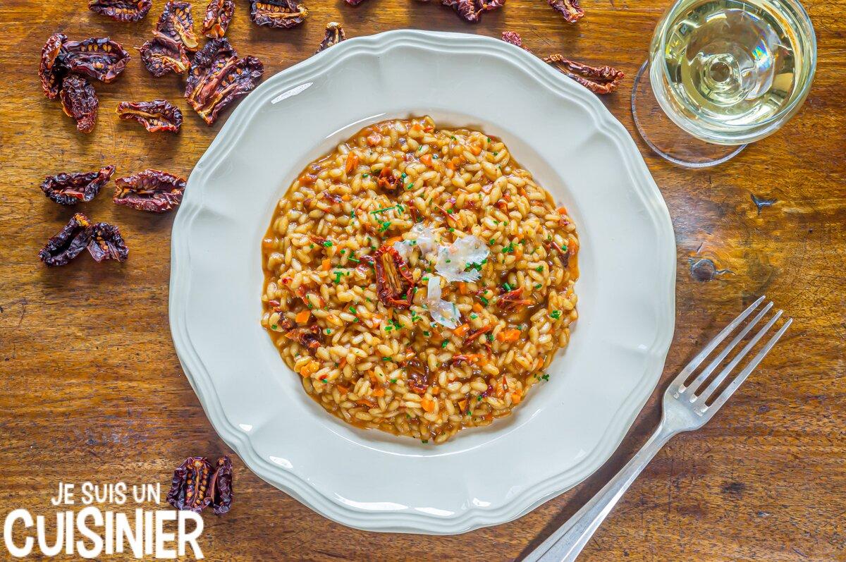 Recette de risotto aux tomates séchées