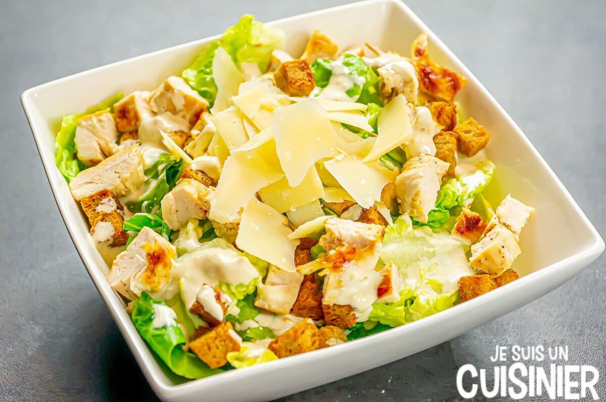 Recette de salade César au poulet