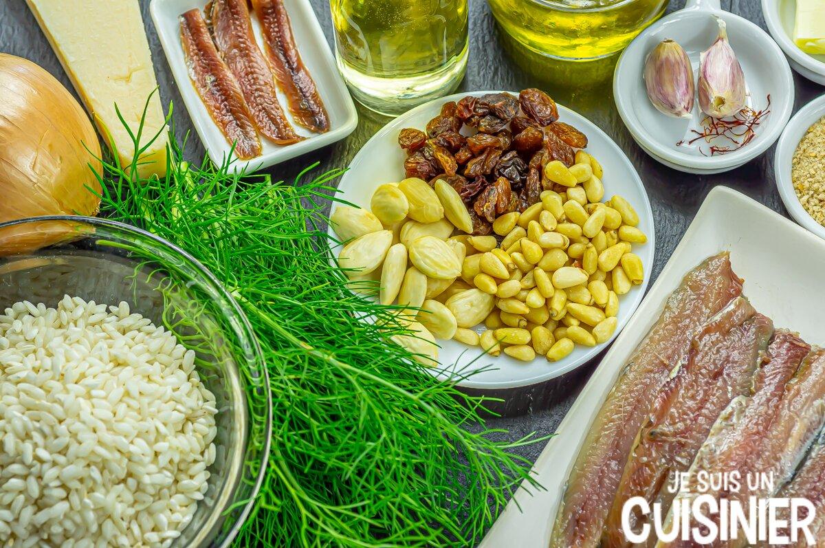 Risotto aux sardines (ingrédients)