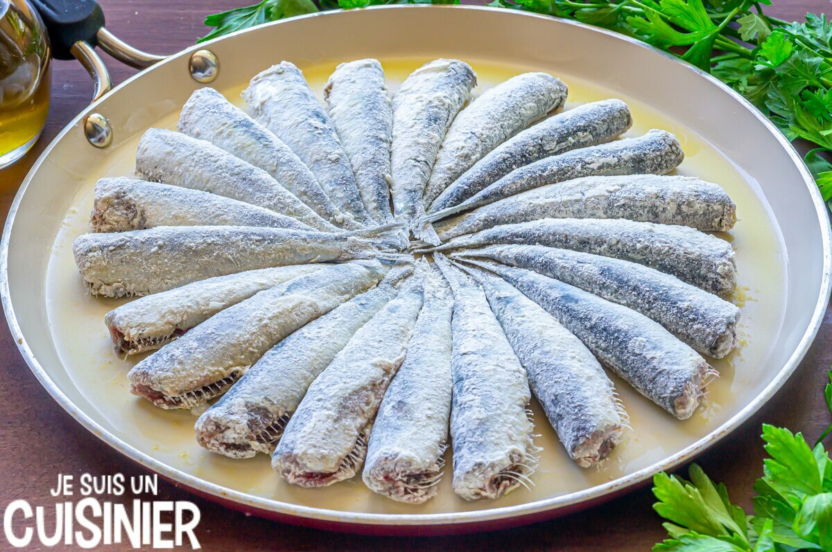 Sardines frites (fariner)