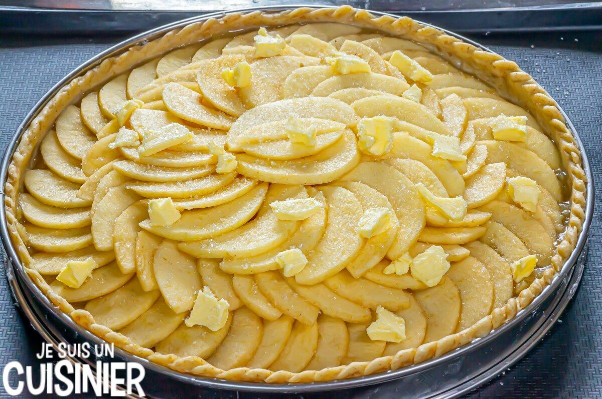 Tarte aux pommes facile (beurre)