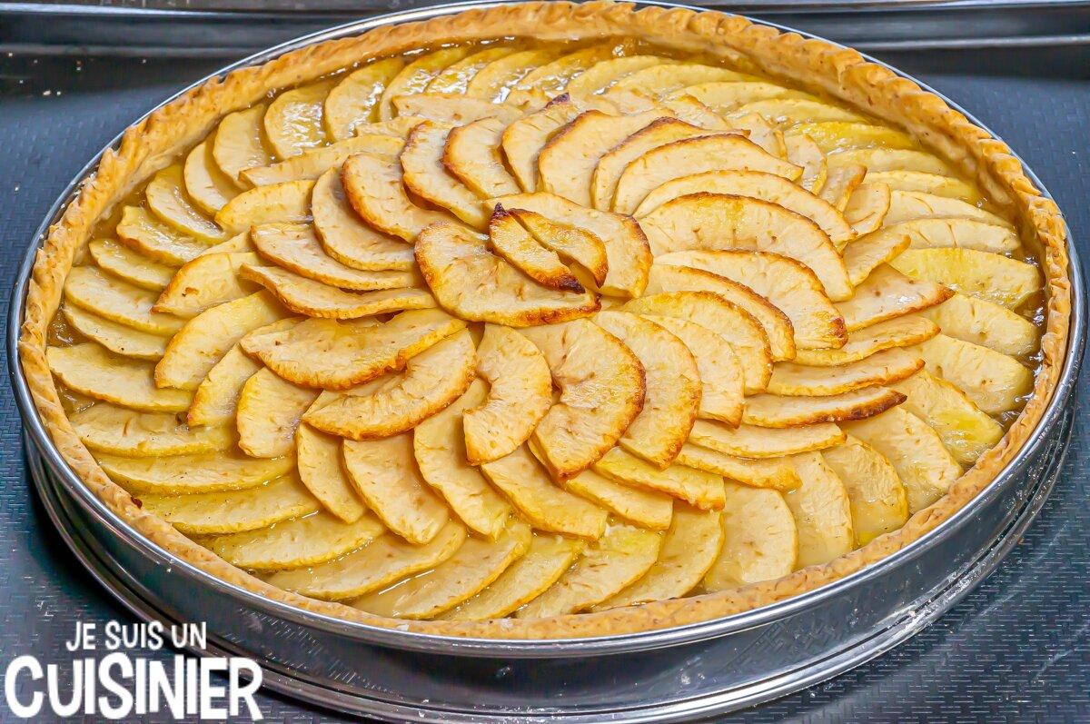 Tarte aux pommes facile (cuisson)