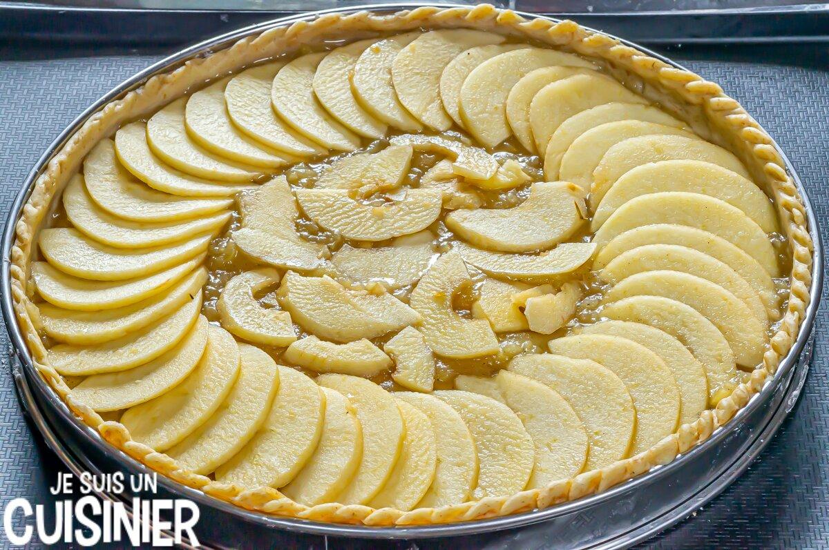 Tarte aux pommes (tranches de pommes)