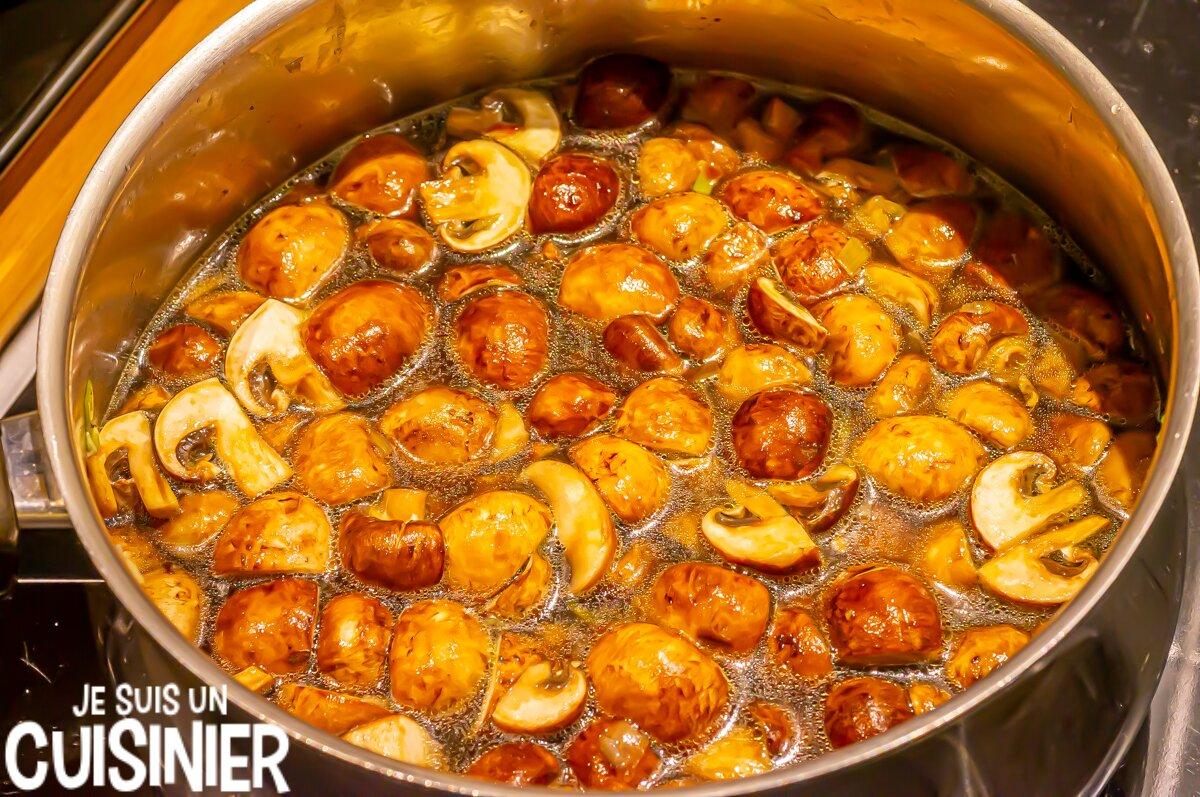 Velouté de champignons (cuisson)
