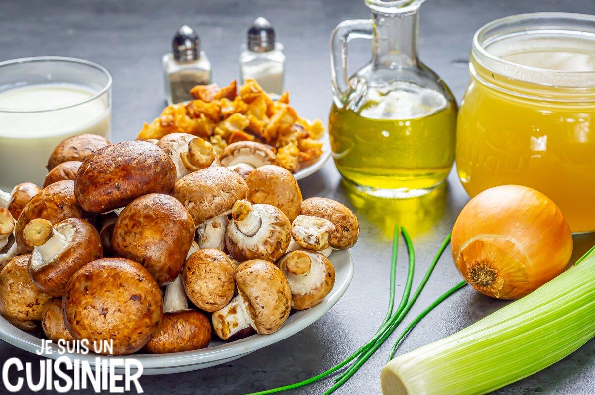Velouté de champignons (ingrédients)