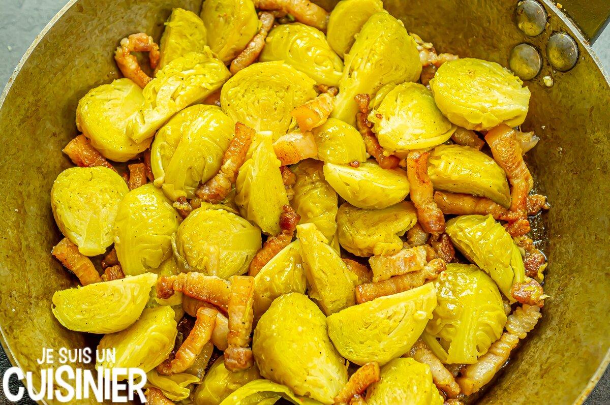 Choux de Bruxelles aux lardons (recette)