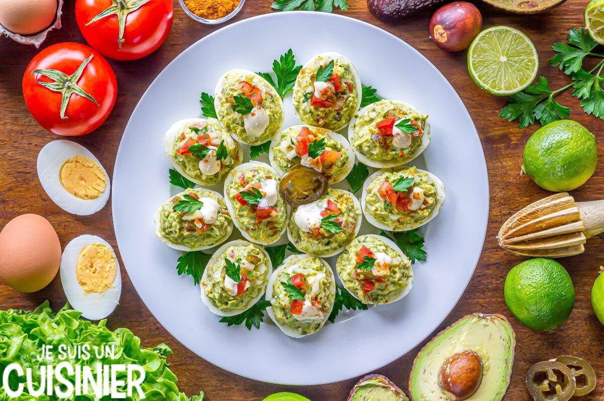 Œufs mimosa au guacamole