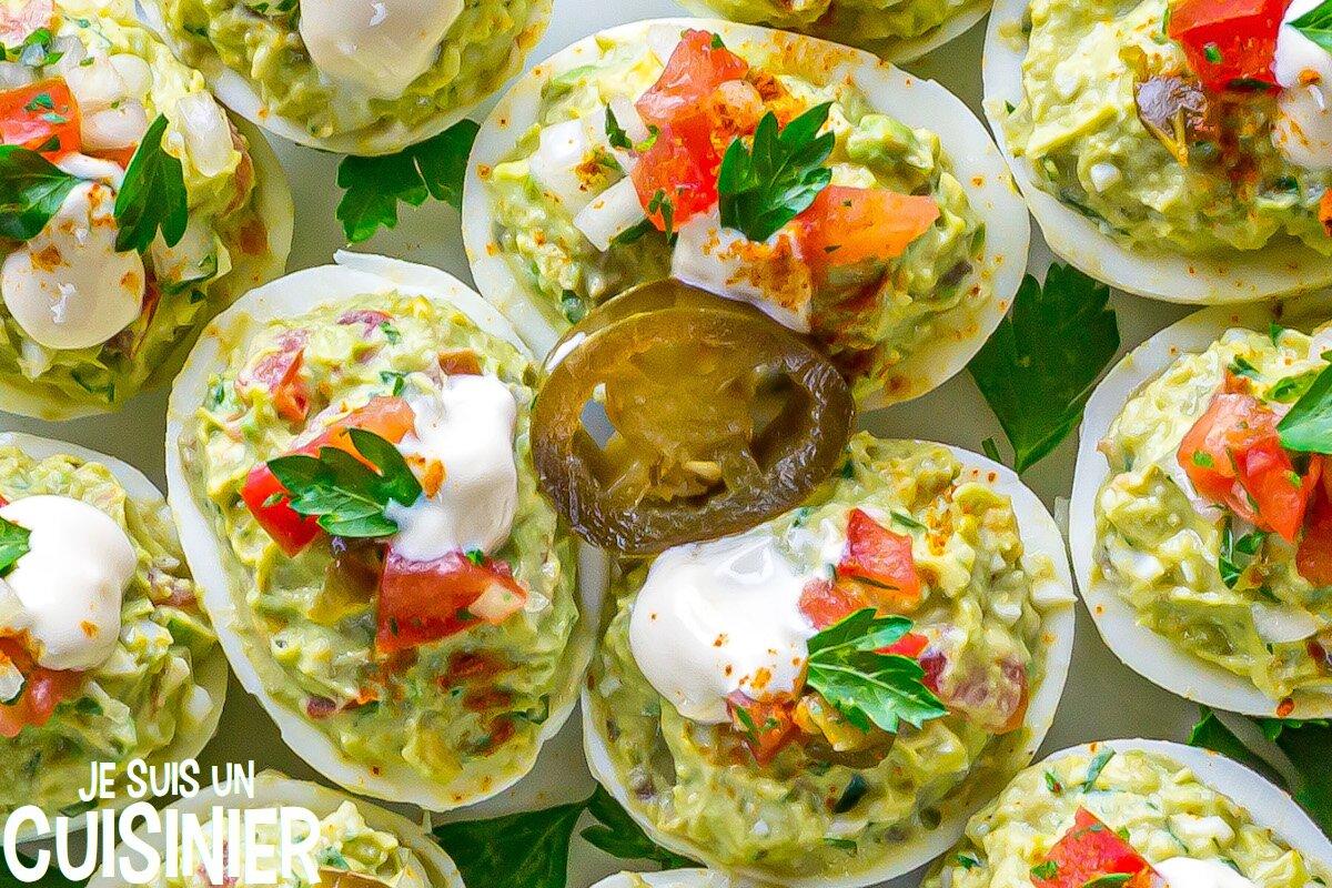 Recette d'œufs mimosa au guacamole