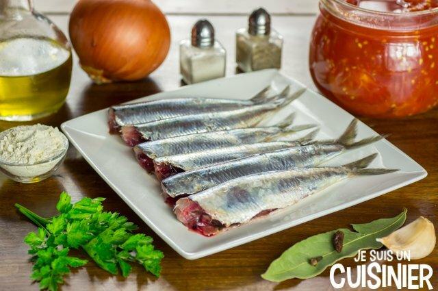 Sardines à la tomate (ingrédients)