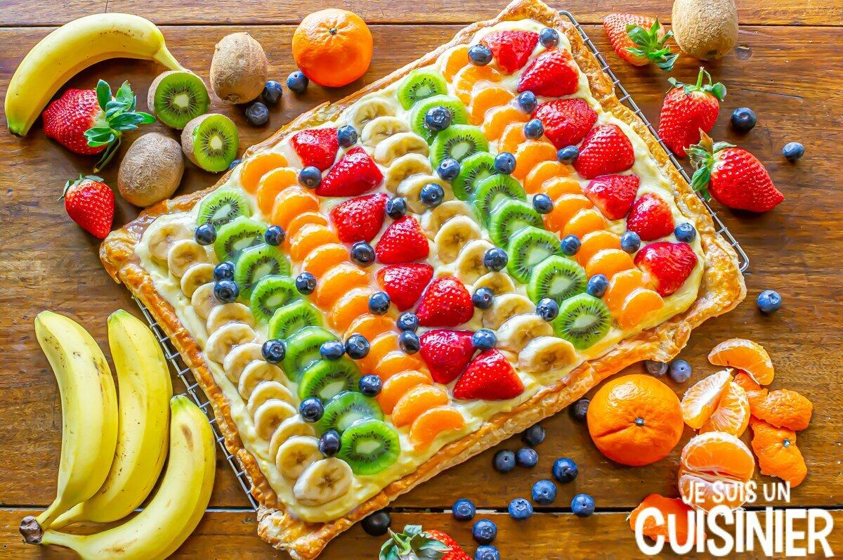 Tarte feuilletée aux fruits et crème pâtissière