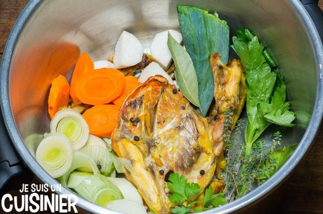 Comment faire bouillon de poulet maison