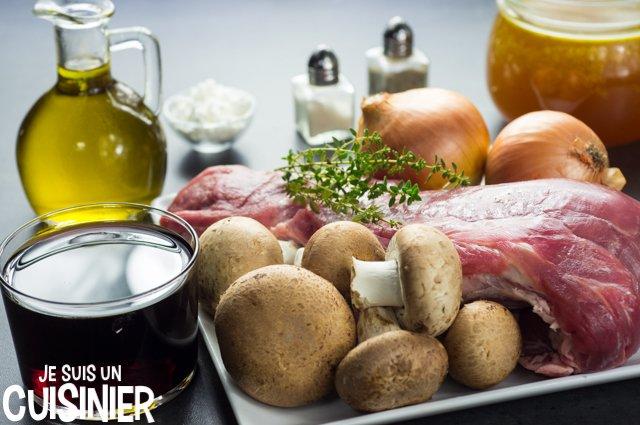 Filet mignon de porc au Porto et champignons (ingrédients)