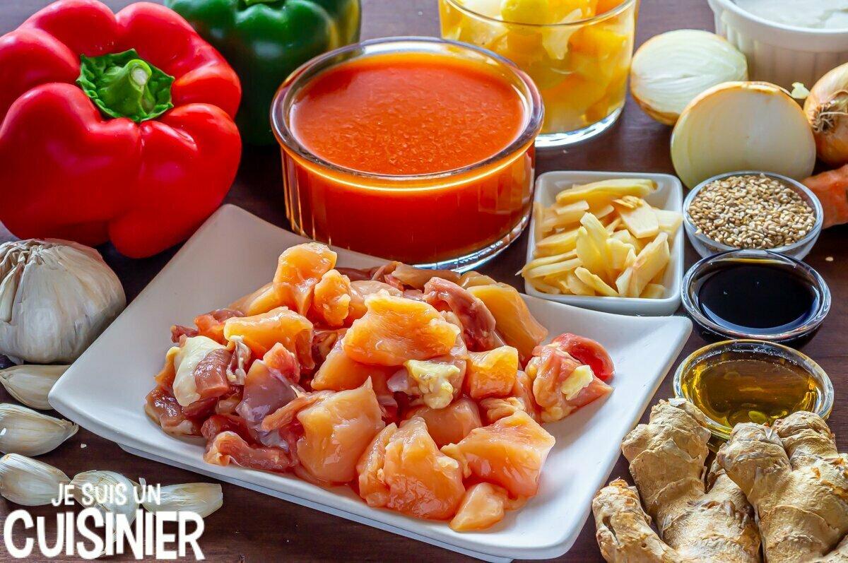 Poulet sauce aigre-douce (ingrédients)