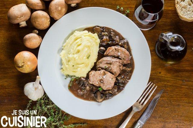 Recette de filet mignon de porc au Porto et champignons