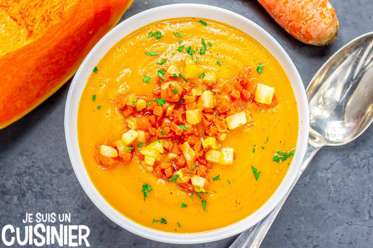 Recette de soupe de courge et carottes