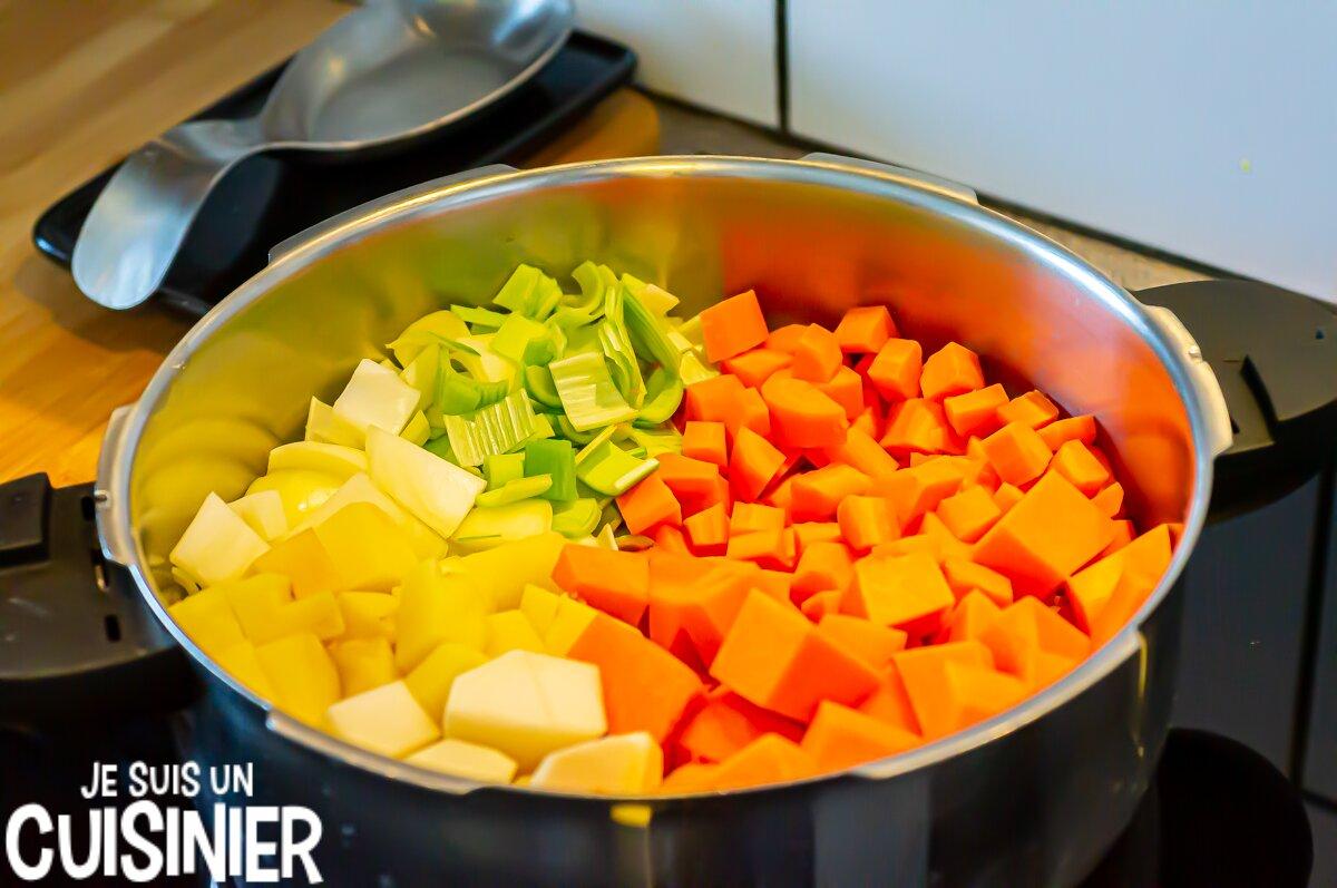 Soupe de courge et carottes (légumes)