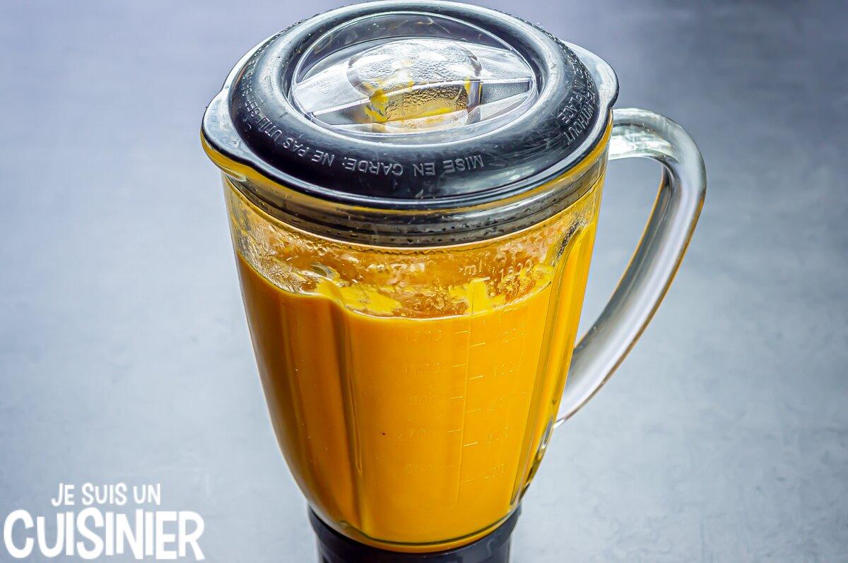 Soupe de courge et carottes (mixer)