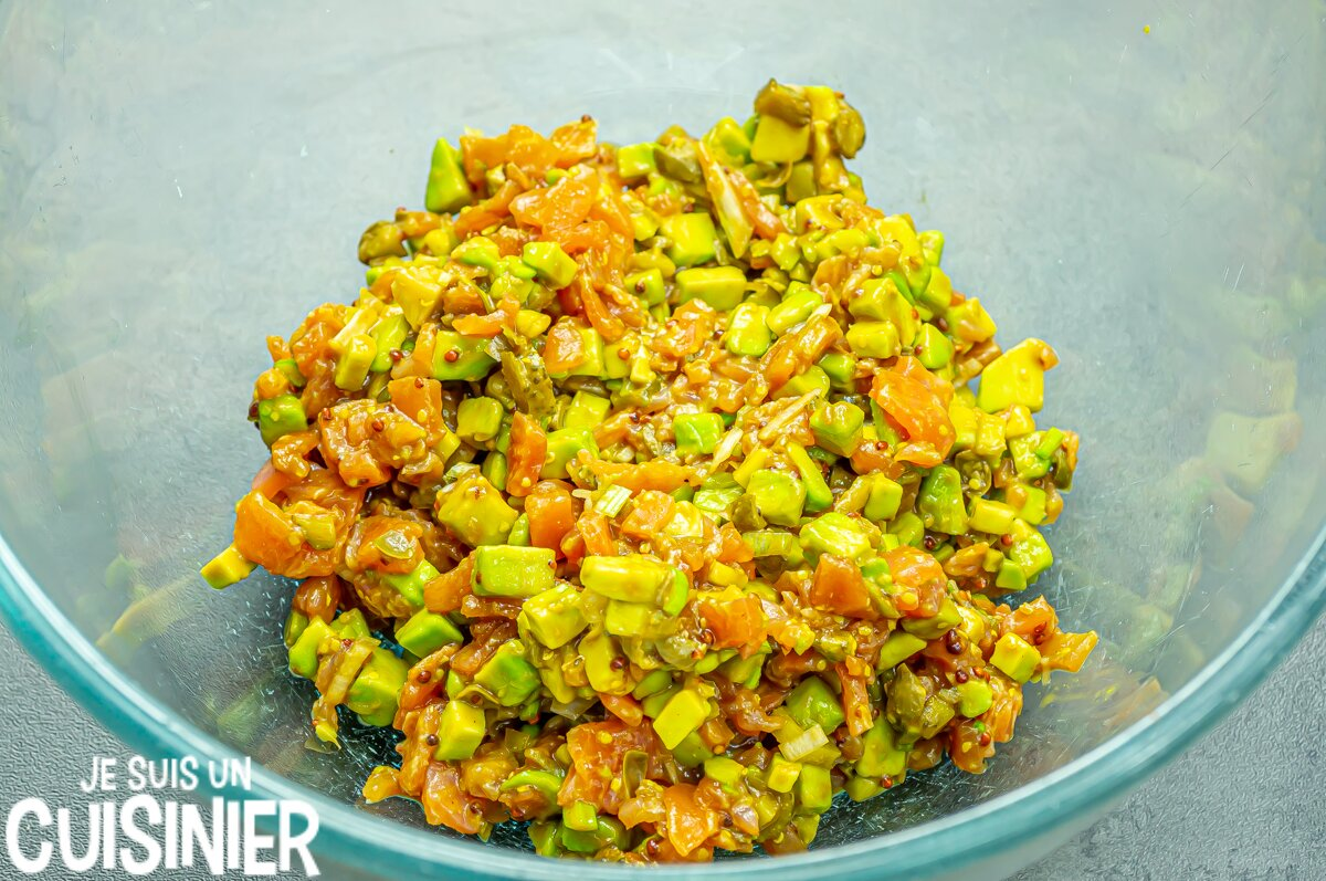 Comment faire tartare saumon fumé avocat