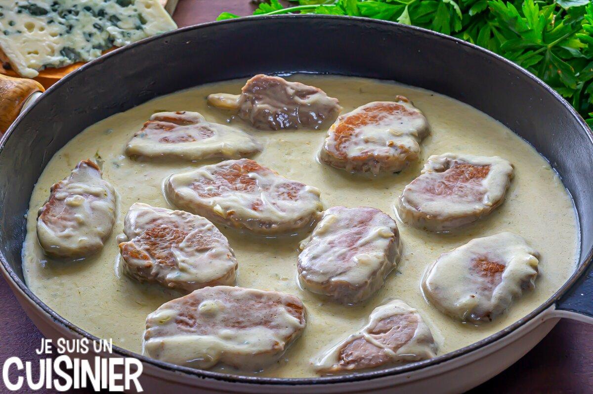 Comment faire pour filet mignon de porc sauce roquefort