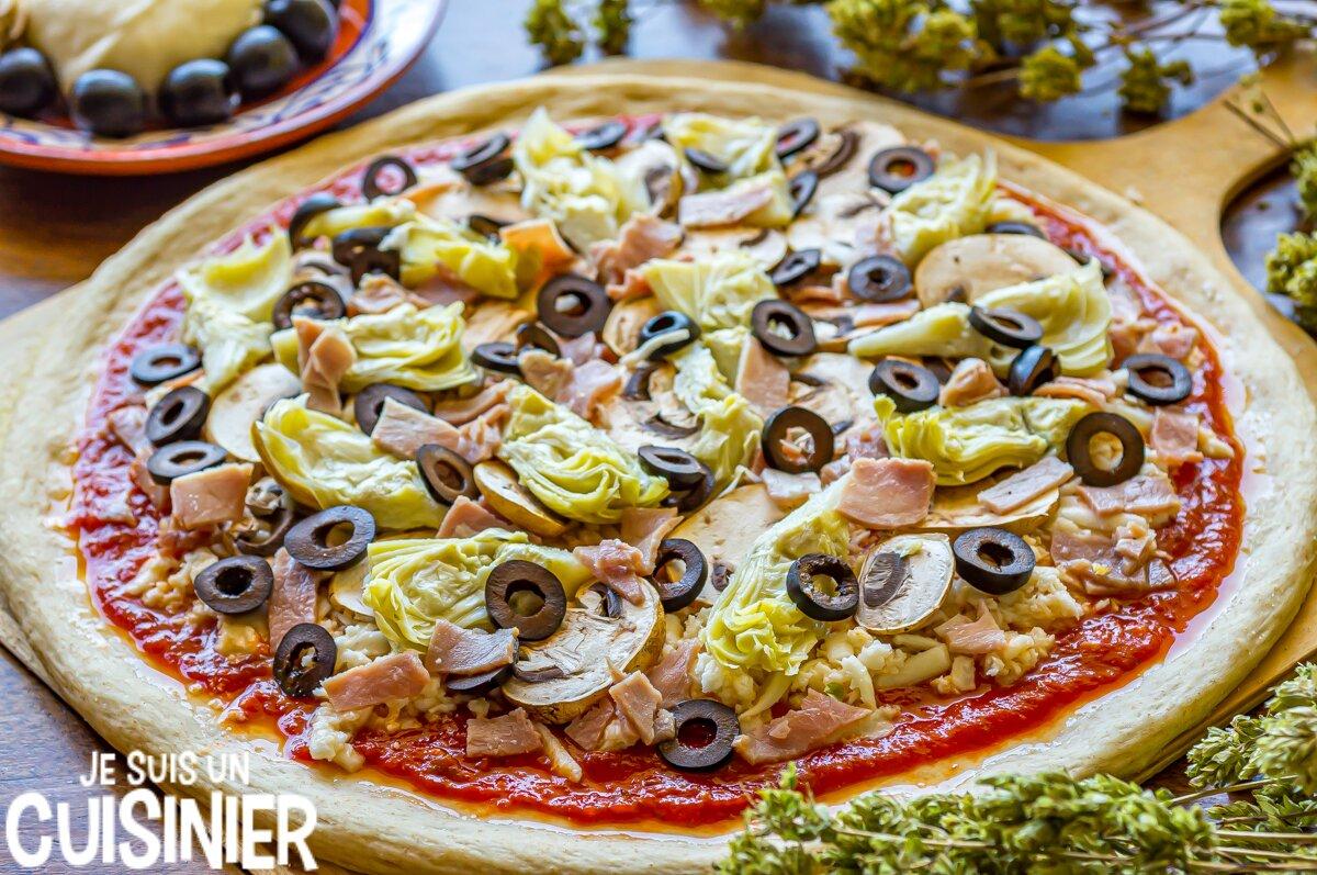 Comment faire pizza aux artichauts