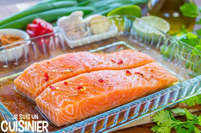Comment faire saumon mariné sauce soja