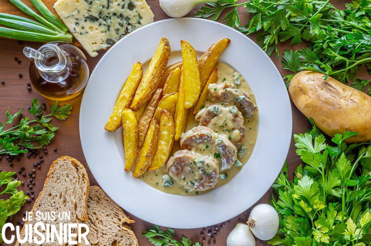 Recette de filet mignon de porc sauce roquefort