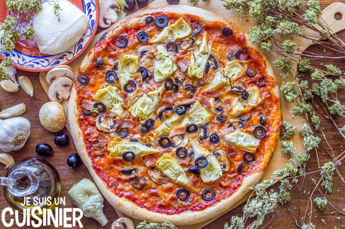 Recette pizza aux artichauts