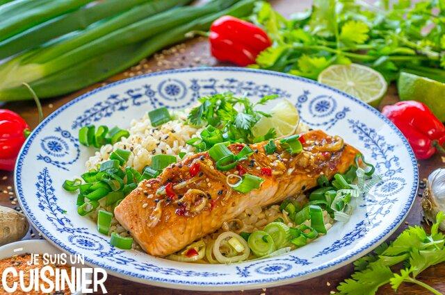 Saumon mariné sauce soja