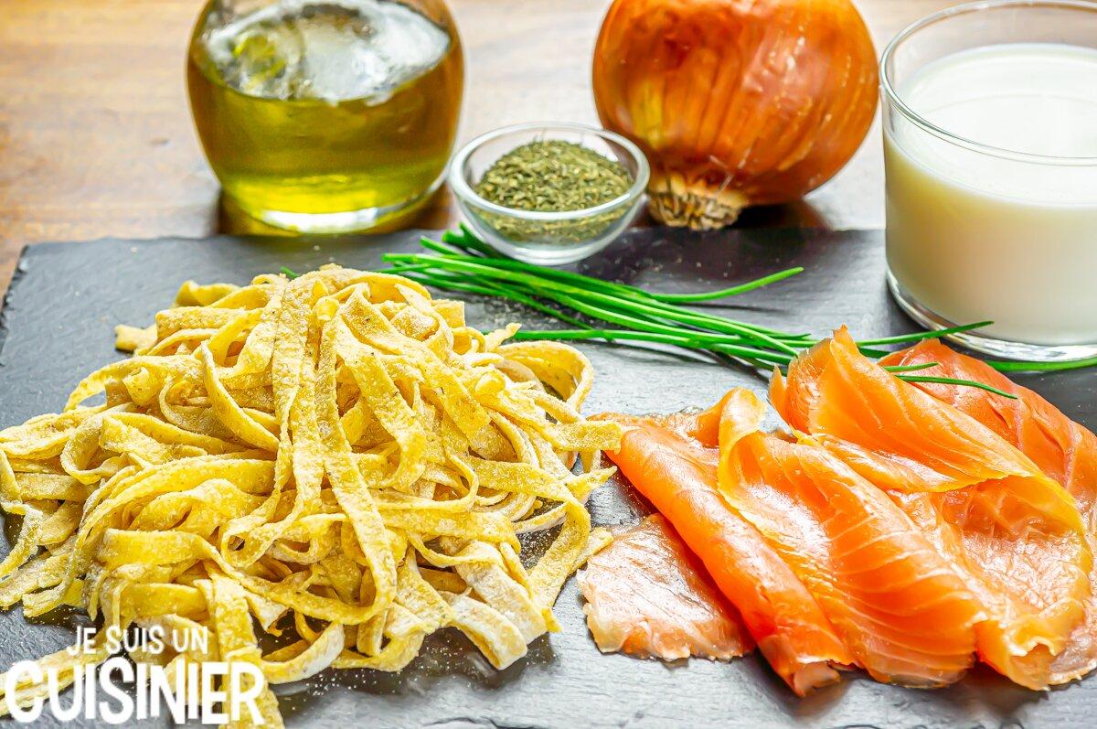 Tagliatelles au saumon fumé (crème)
